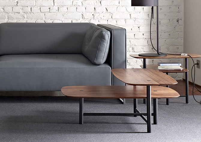 Piani Coffee Table Black Ligne Roset Studio Kowalewski